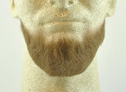 Full Chin Beard LIGHT BROWN - no. 2023 - REALISTIC! 100% Human Hair - Perfect for Theatre and Stage ! Reusable