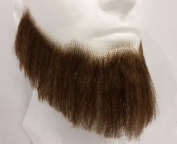 Full Character Beard MEDIUM BROWN - no. 2024 - REALISTIC! 100% Human Hair - Perfect for Theatre