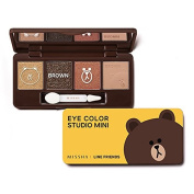 Missha X Line Friends Eye Colour Studio Mini #02 Brown Brownie