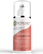 Retseliney Age Defying Moisturiser Cream for Face with Glycolic Acid & Vegan Hyaluronic Acid & Green Tea, Organic & Natural, Anti Ageing Anti Wrinkle Lotion, Reduces Age Spots, Scars, Discoloration