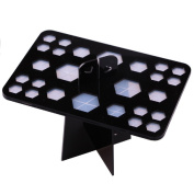 SelfTek 26 hole Acrylic Dryer Organiser Brushes Cosmetic Power Holder Stand Keeps Hair Down and Life Longer