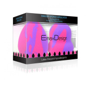 EmaxDesign 2 Pieces Makeup Blender Sponge Set - Random Pattern, Foundation Blending Blush Concealer Eye Face Powder Cream Cosmetics Makeup Sponges. latex free, non-allergenic and odour free.