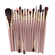 Willtoo 15 pcs/Sets Eye Shadow Foundation Eyebrow Lip Brush Makeup Brushes Tool