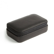 Small Zip Case - Full Grain Leather - Black Onyx