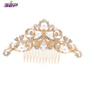 SEP Gold Rhinestone CZ Bridal Wedding Hair Comb Pins Accessories Jewellery FA5030GCL