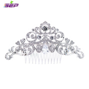 SEP Silver Rhinestone CZ Bridal Wedding Hair Comb Pins Accessories Jewellery FA5030CLE