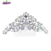 SEP Silver Rhinestone CZ Bridal Wedding Hair Comb Pins Accessories Jewellery FA5030CLE