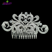 Silver Rhinestone Crystal Bridal Wedding Hair Comb Pin Accessories Jewellery FA3280CLE