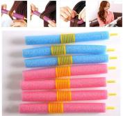 Wispun 12Pcs Soft Foam Curler Bendy Twist Curly Hair Makers DIY Styling Hair Rollers