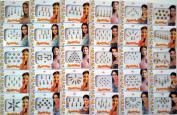 26 Different Packets of India Traditional Bindi Tika Tattoo.