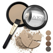 Natural Eyebrow Powder, Waterproof Fill-in Mineral Colour for Perfect Brows