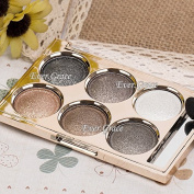 6Color Makeup Beauty Warm Nude Eye Shadow Powder Shimmer Neutral Smoky Eyeshadow