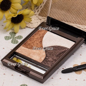 Mineral 4 Colours 3D Fashion Baked Eye Shadow Highlight Eyeshadow Neutral Smokey