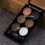 Makeup Glitter Eyeshadow Palette 6 Colours Smokey Warm Nude Eye Shadow Brush Tool