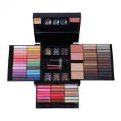 Colourful Palette,Beyoung Super Professional 85 Colours Shimmer Matte Eye shadow Metallic Eyeshadow Palette Concealers Lip Gloss Mascara Blush Loose Powder Combine Makeup Palette Kit with Brush Mirror