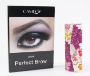 1 Dark Purple Flower Lipstick case + 1 Cameo Cosmetics Perfect Brow- Dark
