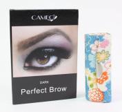 1 Blue Flower Lipstick case + 1 Cameo Cosmetics Perfect Brow- Dark