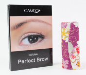 1 Dark Purple Flower Lipstick Case + 1 Cameo Cosmetics Natural Perfect Brow