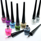 Italia Deluxe Glitter Eyeliner Full Set of 9 Colours