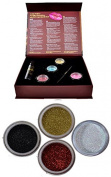 Itay Beauty Shine Bright eye shadows Kit (4 eye shadows glitters + gel sparkle +premium duo brush )