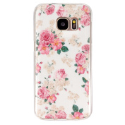 BLT® Soft TPU Big Rose Pattern Crystal Rubber Flexible Slim Case for for  for  for  for  for  for  for  for Samsung        Galaxy S7 with a Screen Protector
