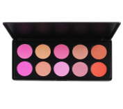 PhantomSky 10 Colour Powder Blush / Blusher Makeup Palette Contouring Kit - Perfect for Professional and Daily Use
