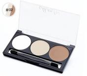 SUKRAGRAHA Blush Facial Makeup Powder 3 Matte Finish White Nude Brown Colour Set with Brush