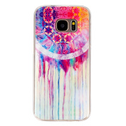 BLT® Soft TPU Water Colour Pattern Crystal Rubber Flexible Slim Case for Samsung Galaxy S7 with a Screen Protector