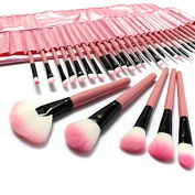 BephaMart 32 PCS Pink Eyeshadow Eyebrow Blush Makeup Brushes Cosmetic Set Shipped and Sold by BephaMart