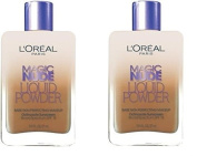 (Pack of 2) - L'Oreal Paris Magic Nude Liquid Powder Bare Skin Perfecting Makeup SPF 18, 330 Classic Tan, 25mls