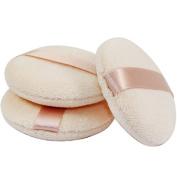KOLIGHT®Set of 10pcs Pro Dry Makeup Soft Face Powder Puff Ribbons Flutter Hook
