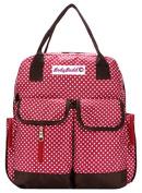 HuggyHug Original Mommy Fashion Nappy Baby Bag, Stroller Organiser Tote, Stylish Red