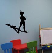 Peter Pan Wall Decal Never Land Sticker Peter Pan Decor Children Decor Nursery Room Decor Boys Bedroom Girls Room Playroom Fairies Mural