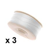 3 X 64-Yard NYMO Nylon Beading Thread Size D for Delica Beads, White