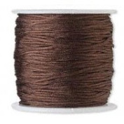 Rayon Cord Imitation Silk 1mm Dark Brown 30m