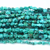 """5x8mm Nugget Turquoise Natural Green 15""""L - 2760 - Necklace Bracelet"""