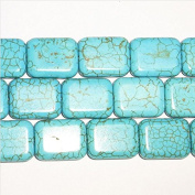 "15x20mm Tv Face Howlite Turquoise Colour Beads 15""L"
