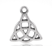 4 Pieces Antique Silver Tone Large Celtic Knot Pendant Charms 3.2cm x 3.2cm , Jewellery Findings, Celtic Pendant, Celtic Charms