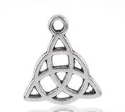 4 Pieces Antique Silver Tone Large Celtic Knot Pendant Charms 3.2cm x 3.2cm , Jewellery Findings, Celtic Pendant, Celtic Charms