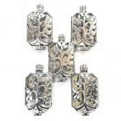 HaXiu 5pcs Tree Pattern Rectangle(43*23mm) Pendant Charms Necklace Aromatherapy Essential Oil Diffuser