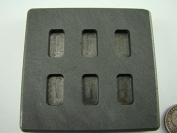 5 Gramme x 6 High Density Graphite Gold Bar Mould 6-Cavities - 3 Gramme Silver Bars