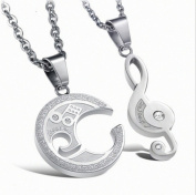 WellieSTR A Pair Valentine Couple Chain Girl Era Music Group Stainless Steel Necklaces