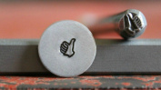 Supply Guy 5mm Thumbs Up Metal Punch Design Stamp F-20