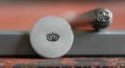 Supply Guy 5mm Lotus Flower Metal Punch Design Stamp F-11