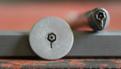 Supply Guy 5mm Dandelion Flower Metal Punch Design Stamp F-10