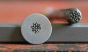 Supply Guy 4mm 8 Petal Flower Metal Punch Design Stamp F-9