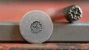 Supply Guy 3mm Swirl Flower Metal Punch Design Stamp NJ-11