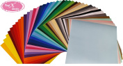 VinylXSticker Starter Pack 30cm x 30cm Self Adhesive Vinyl Sheets (40 Pack) - Permanent Assorted Vinyl for Cricut, Silhouette Cameo, Craft Cutters