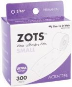 Thermoweb Zots Clear Adhesive Dots, Small, 300 per pack