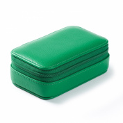 Small Zip Case - Full Grain Leather - Kelly Green